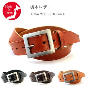 Casual Belt Tochigi Leather Men's Genuine Leather