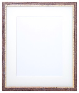 Frame Watercolor Mat Attached Brown