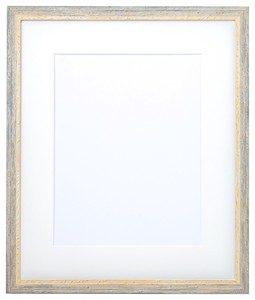Frame Watercolor Mat Attached Light blue
