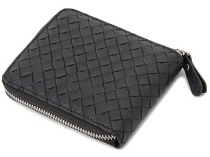 Mesh Push Round Fastener Clamshell Wallet