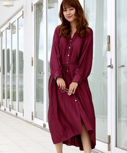 Bag Pleats Vintage Robe One-piece Dress