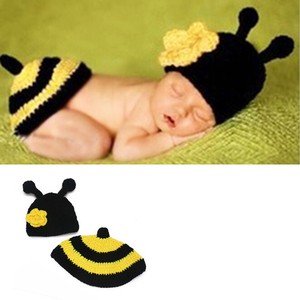 Art Honey Bee Accessories Costume Baby Knitted Hat Costume Cosplay