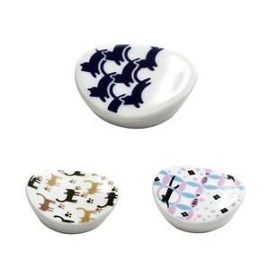 Porcelain 1Pc Komon Chopstick Rest 3 Types
