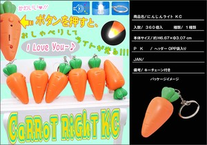 Carrot Light Key Ring