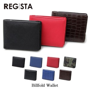 type Push Leather Ford Wallet Clamshell Wallet