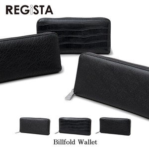 Push Leather Round Long Wallet Long Wallet Large capacity