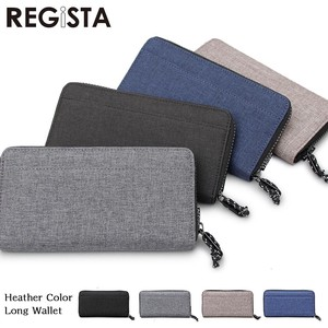 Heather Nylon Round Ford Wallet Clamshell Wallet