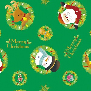 Christmas Wrapper Wreath Santa Half Sheet Whole Sheet