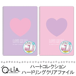 Heart Collection Hard Ring Plastic Folder