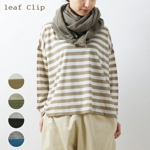 A/W Wool Border Wide Pullover Natural Stretch