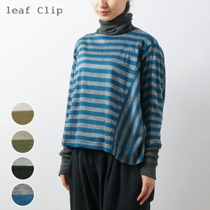 A/W Wool Border Dolman Pullover Natural