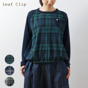 A/W Checkered Switching Balloon Pullover Natural Cotton