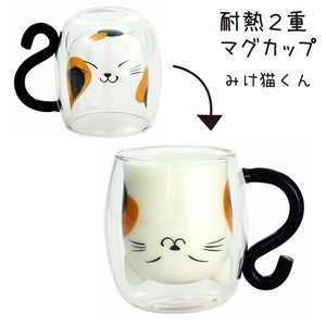 Glass 1Pc Heat-Resistant Double Mug Cat
