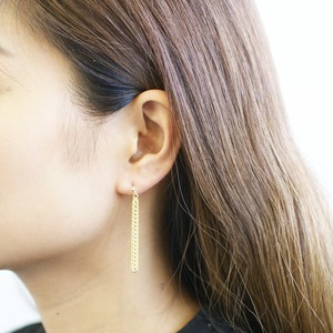 Chain Motif Resin Post Pierced Earring