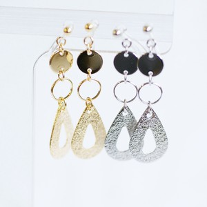 Metal Drop Resin Hall Earring
