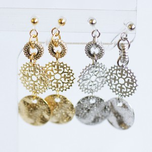 Circle Falling Resin Hall Earring