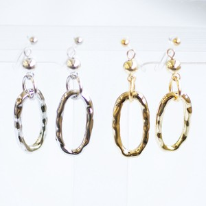 Oval Metal Falling Resin Hall Earring