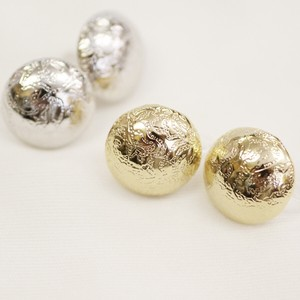 Metal Button Resin Hall Earring
