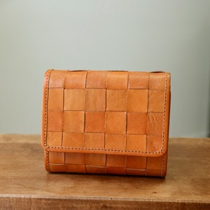 Leather Mesh Wallet