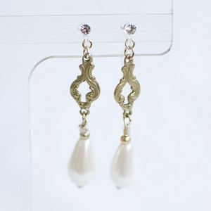 Antique Drop Pearl Falling Resin Hall Earring