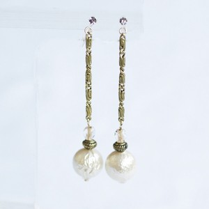 Deformation Chain Falling Pearl Resin Hall Earring