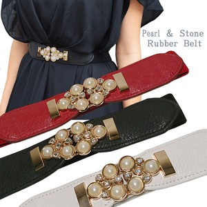 Popular Pearl Stone Switch Elastic Belt Belt