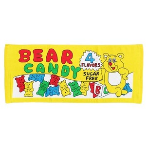 Bear Candy Print Long Towel