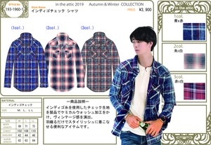 Indigo Checkered Processing Shirt