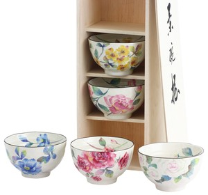 Mino Ware Gift Rose Garden Rice Bowl