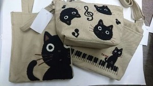 Cat Tama-Chan Shoulder Tote Pouch
