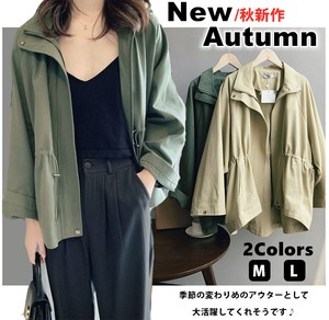 Ladies A/W Outerwear Leisurely Spring Trench Coat Plain Mod Coat Jacket