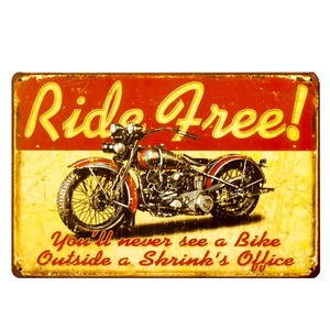 Antique Metal Plate S RIDE FREE