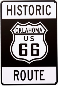 Antique Metal Plate S OKLAHOMA RT66