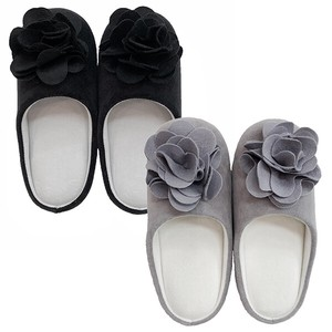 Modern Mono Tone Color Flower Motif Attached Slipper Mono Tone Rose