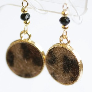 Leopard Resin Hall Earring