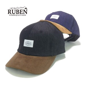 Ruben Fake Suede Denim Cap Young Hats & Cap