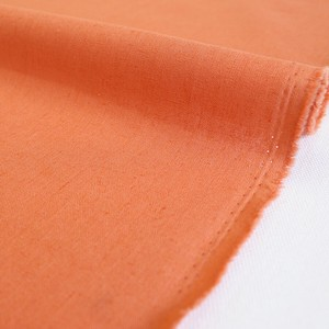 Fabric Plain Half Linen Dust Coral Unit Cut Sales