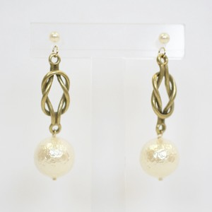 Metal Rope Design Resin Post Pierced Earring