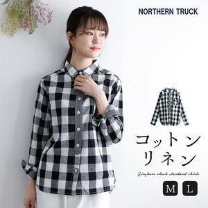 Checkered Shirt Shirt Ladies Long Sleeve Gingham Check Rack