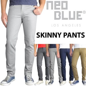 Blue Stretch Skinny Pants Color