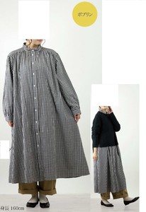 A/W potpourri Long Shirt One-piece Dress