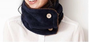 A/W Plain Button Attached Neck Warmer