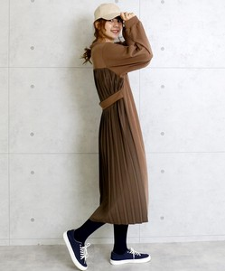 Face Bag Pleats One-piece Dress Long Sleeve Each Color