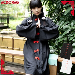 China Button One-piece Dress Long Sleeve Flashy ACDC RAG
