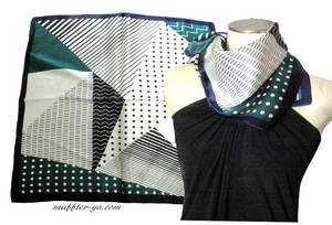 Geometry Dot Silk Petit Scarf