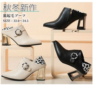 A/W Ladies Shoe Raised Back Boots Heel Lace Slip-Proof Stability feeling Beautiful Legs