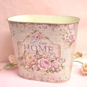 Rose Dust Box Magazine Rack Tinplate Decoration