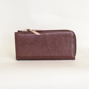 Tochigi Leather Fastener Long Wallet Cow Leather Men's Ladies Brown