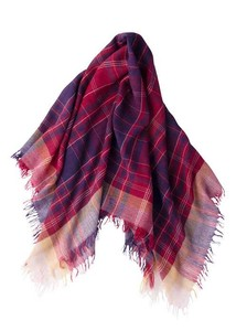 Weaving Wool Checkered Stole
