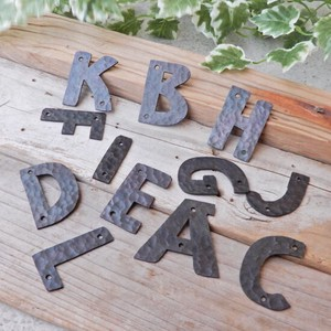 Hammer Iron Alphabet Ornament Plate